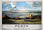 Perth, The Fair City, Scotland. LMS Vintage Travel Poster by WM Frazer